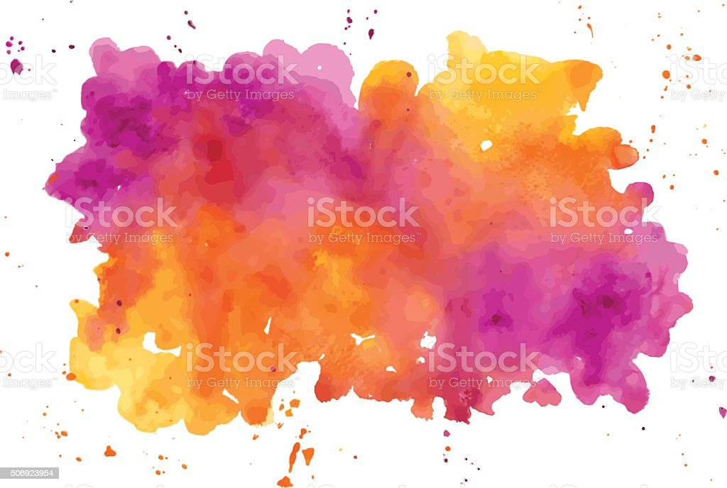 Vector watercolor abstract hand painted background vector art illustration