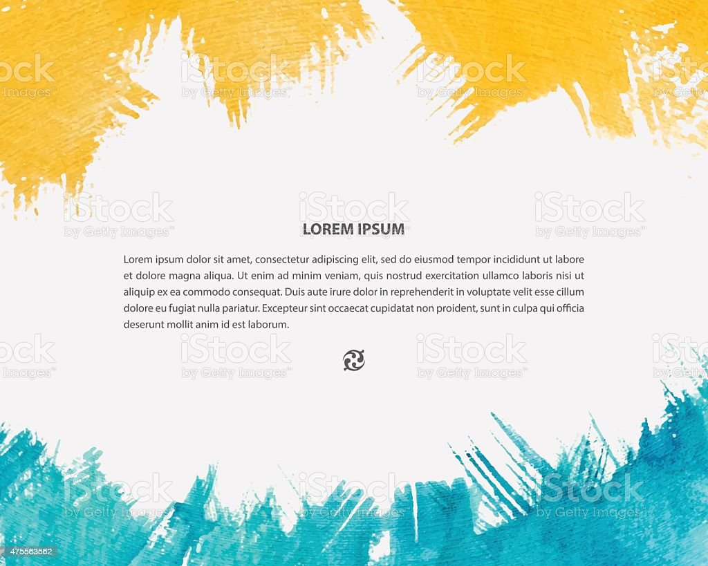 Poster design background - Vector Watercolor Background For Poster Card Banner Brochure Design Royalty Free