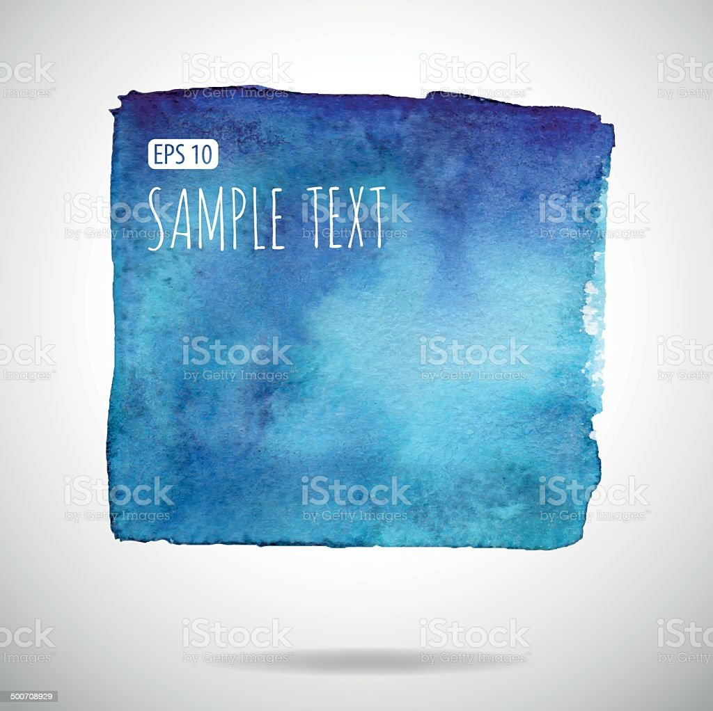 Vector watercolor speech bubbles vector art illustration