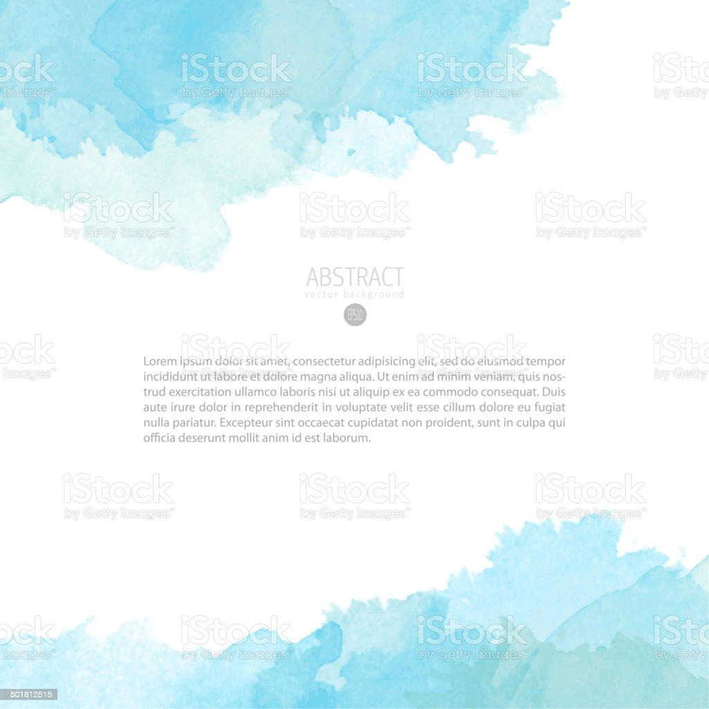 Vector watercolor template vector art illustration