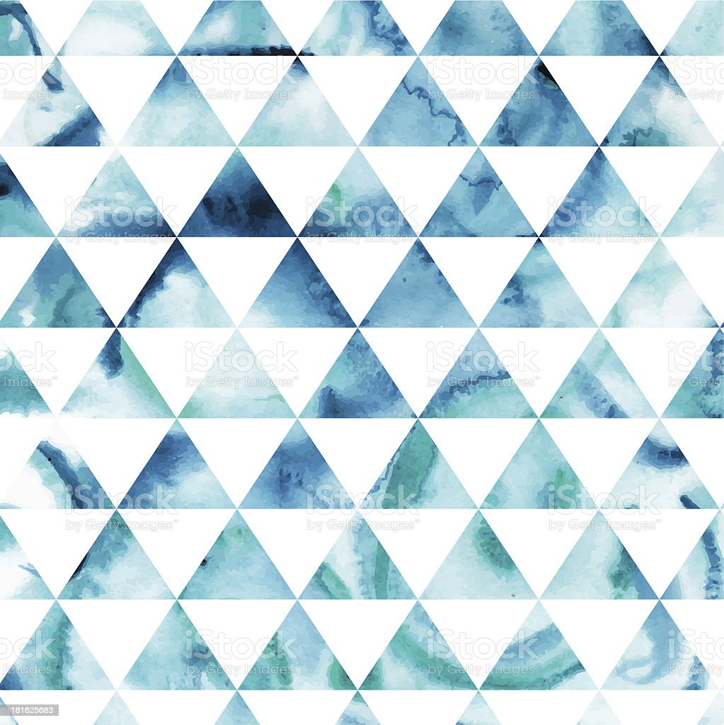 Vector watercolor triangles pattern royalty-free stock vector art