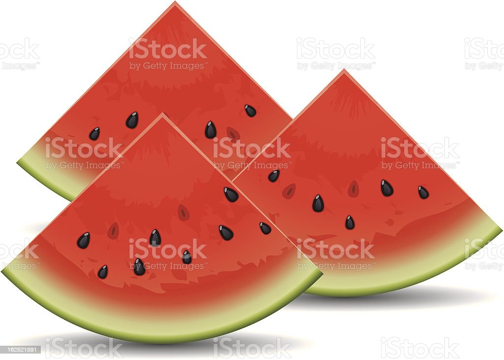 vector watermelon slices royalty-free stock vector art