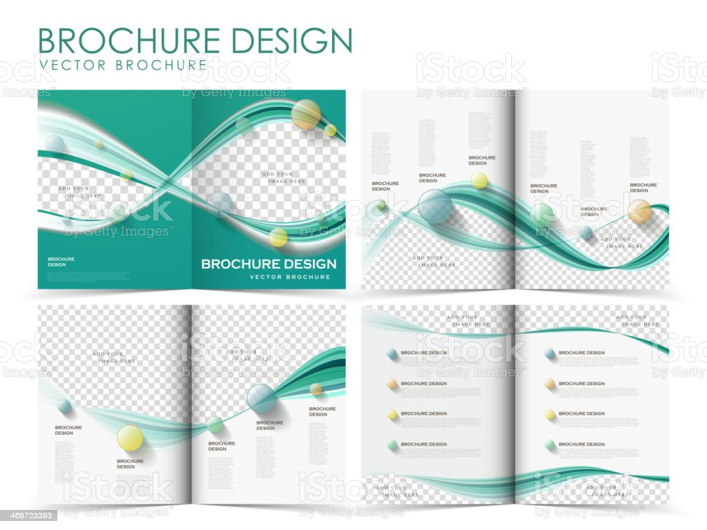 Vector wavy real brochure template royalty-free stock vector art