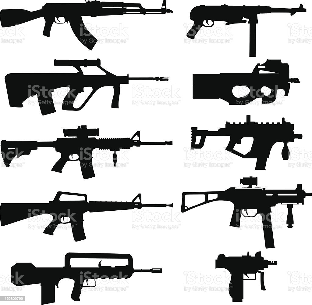 vector weapon pack vector art illustration