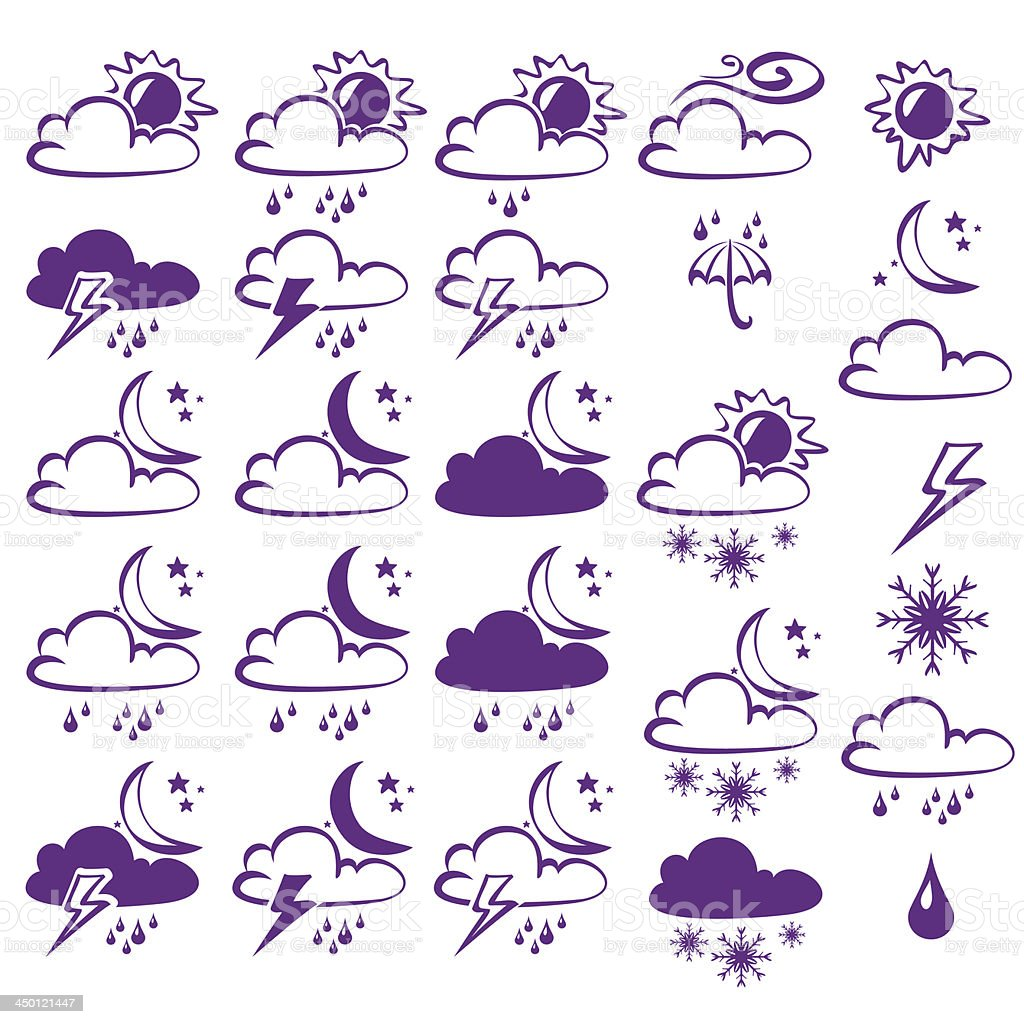 Vector Weather Icons Collection royalty-free stock vector art