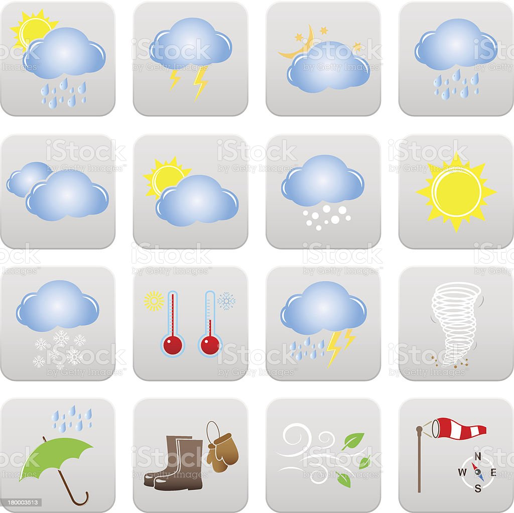 Vector Weather Icons royalty-free stock vector art