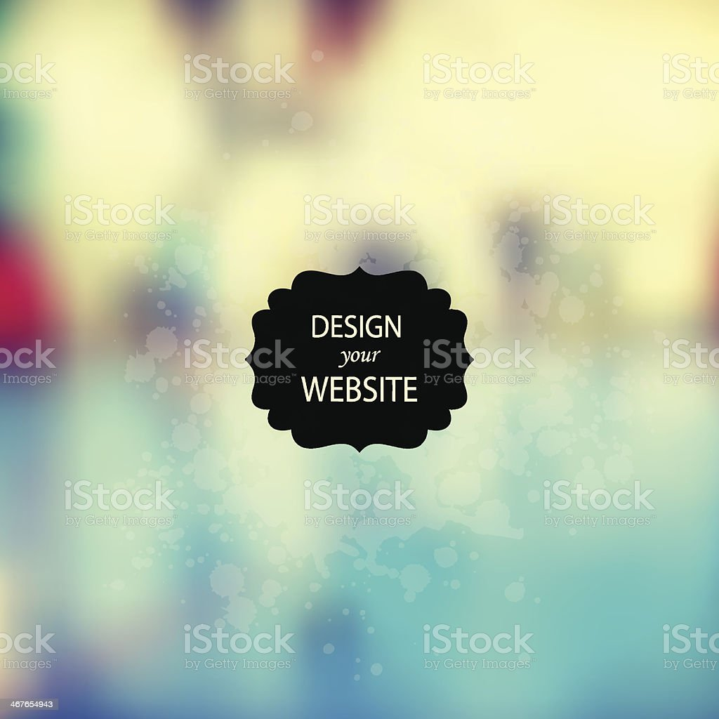 Vector web and mobile interface template. Corporate website desi vector art illustration