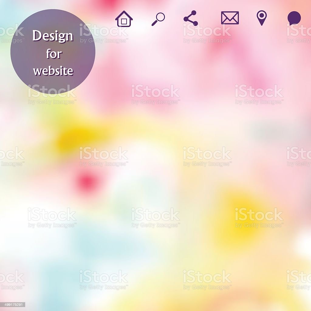 Vector web and mobile interface template vector art illustration