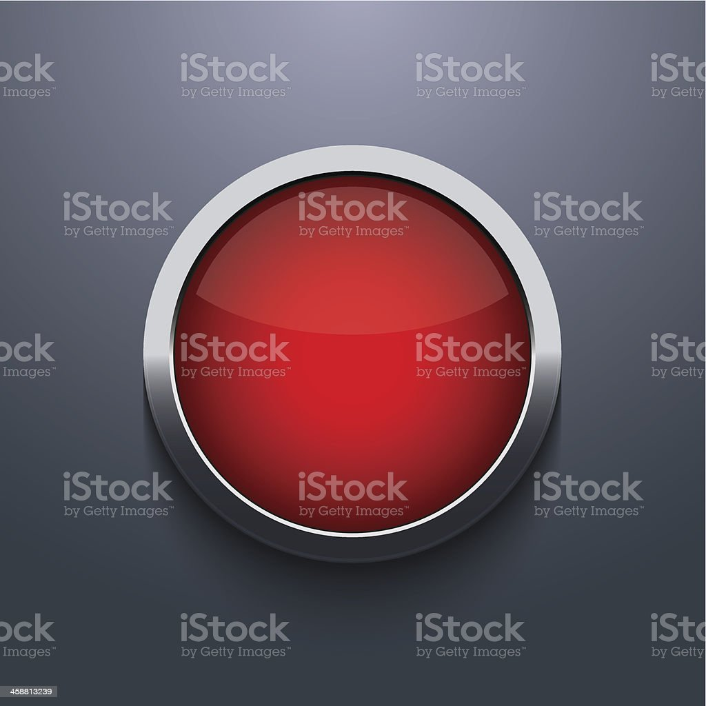 Vector web button design on gray background vector art illustration