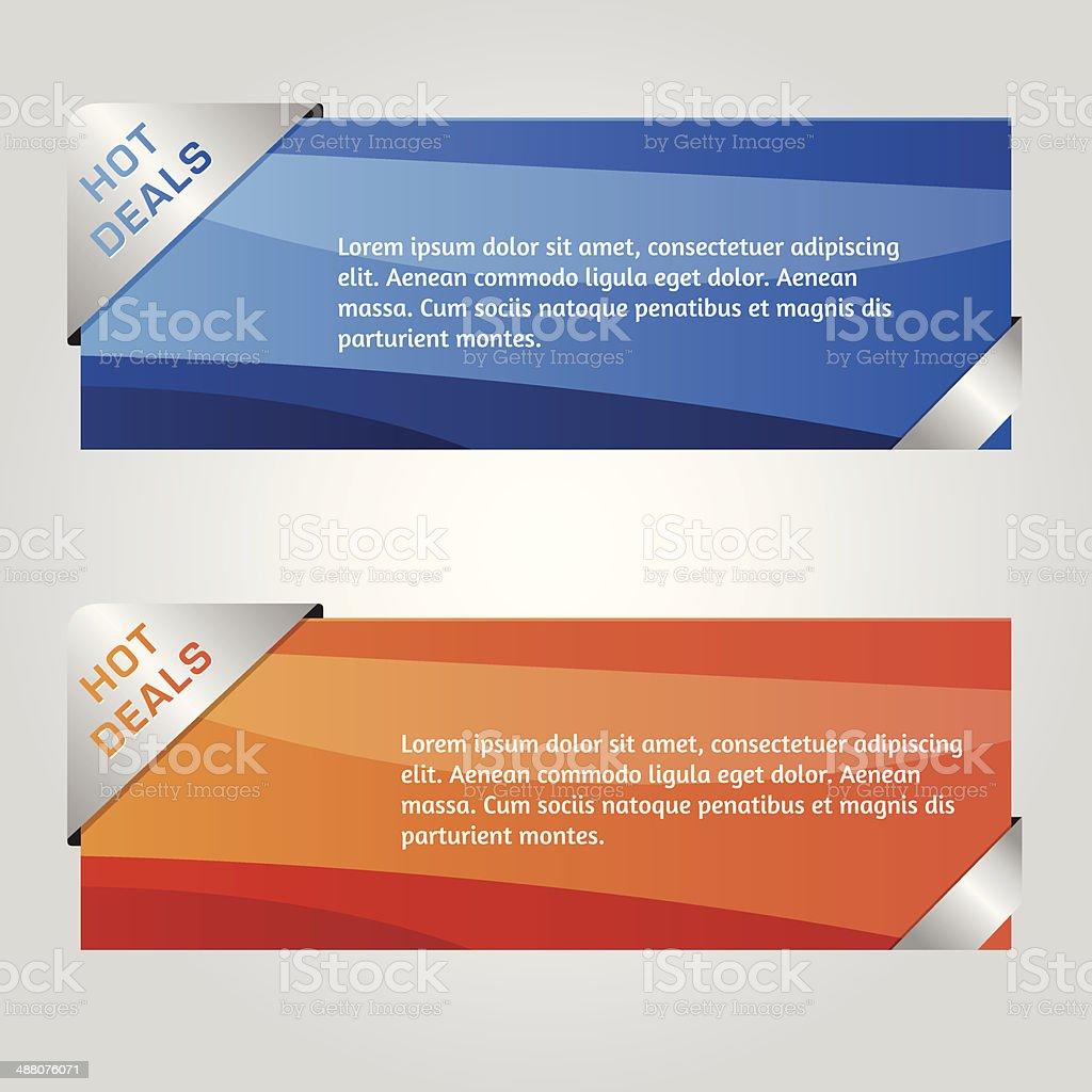 Vector Web Design Banner vector art illustration