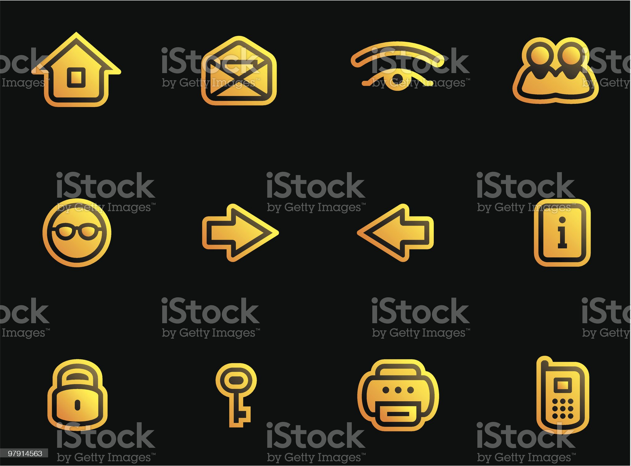 Vector Web Icons Set royalty-free stock vector art