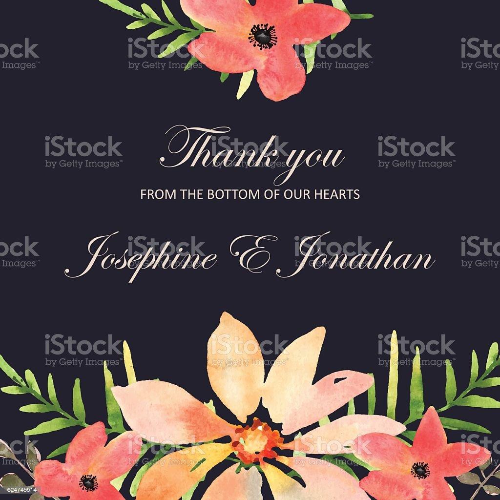 Vector wedding invitation with floral background hand drawn wat vector wedding invitation with floral background hand drawn wat vetor e ilustrao royalty free stopboris Gallery