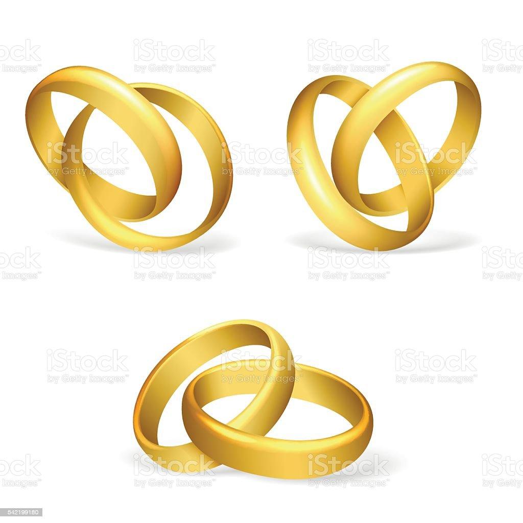 Vector wedding rings vector art illustration