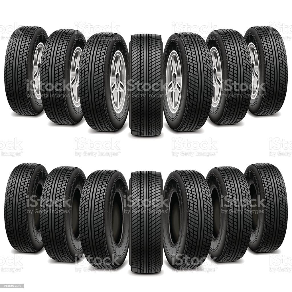 Vector Wedge of Tires vector art illustration