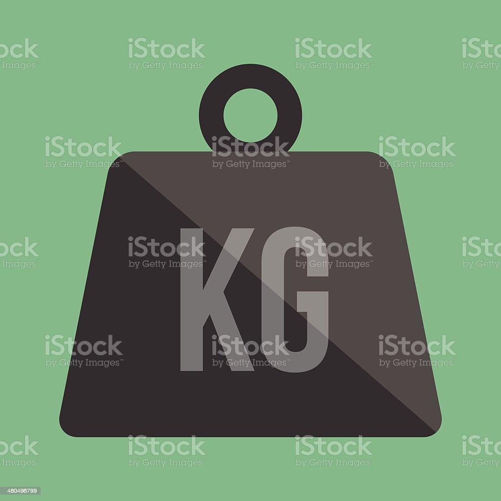 Vector Weight Kilogram Icon vector art illustration