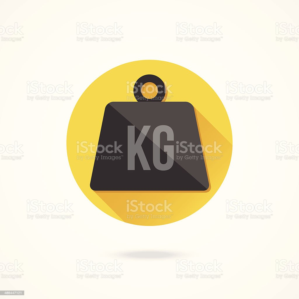 Vector Weight Kilogram Icon vector art illustration