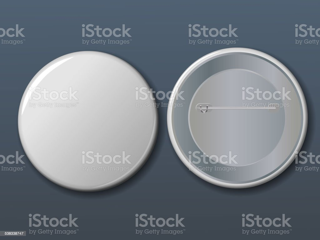Vector white badge with place for your text. vector art illustration
