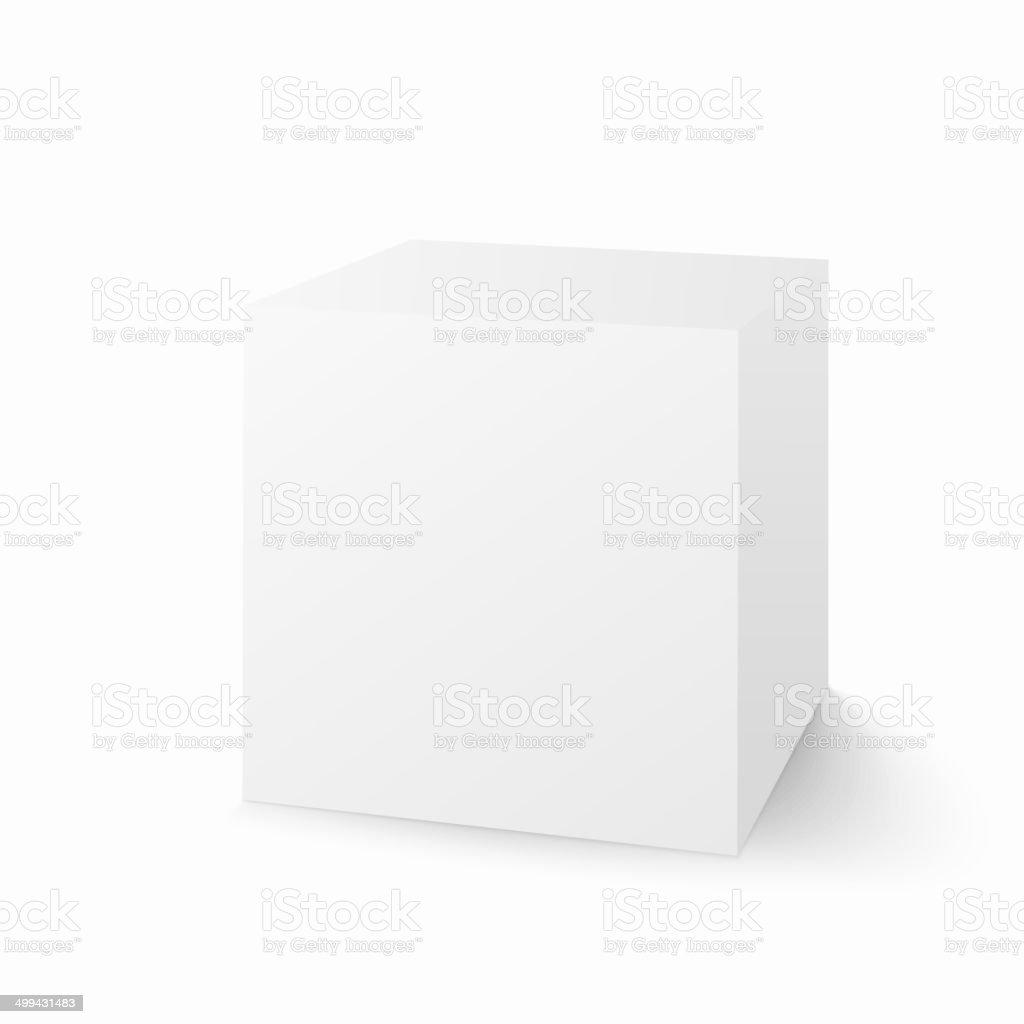 Vector white box isolated on white background vector art illustration