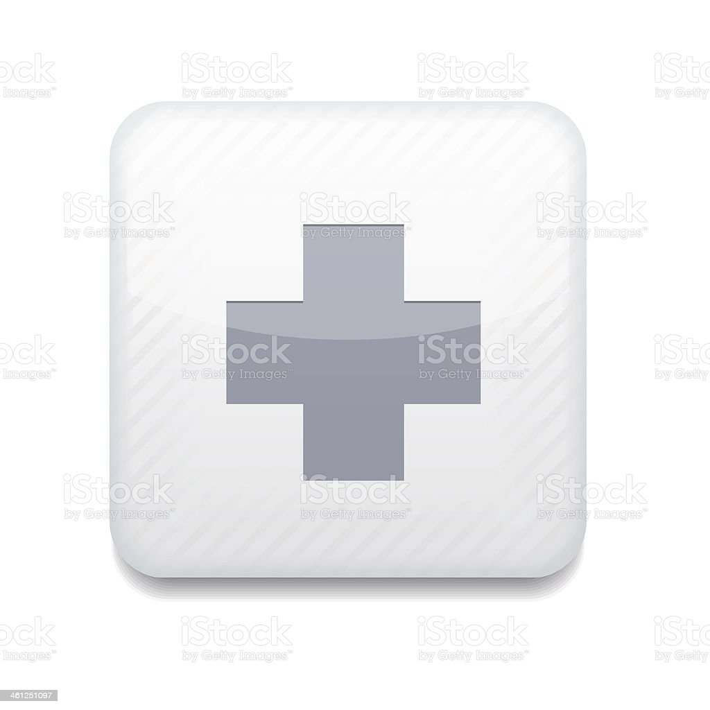 Vector white cross icon. Eps10. Easy to edit royalty-free stock vector art