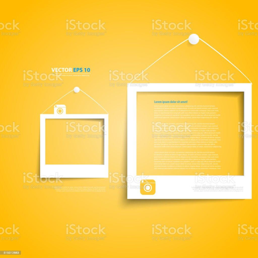 Vector white frames on the wall vector art illustration