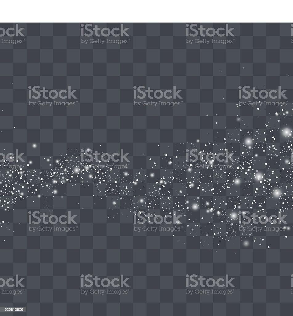 Vector white glitter particles background effect vector art illustration