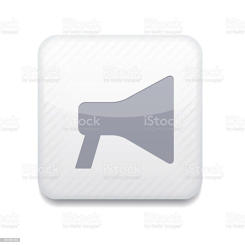 Vector white  loudspeaker icon. Eps10. Easy to edit vector art illustration