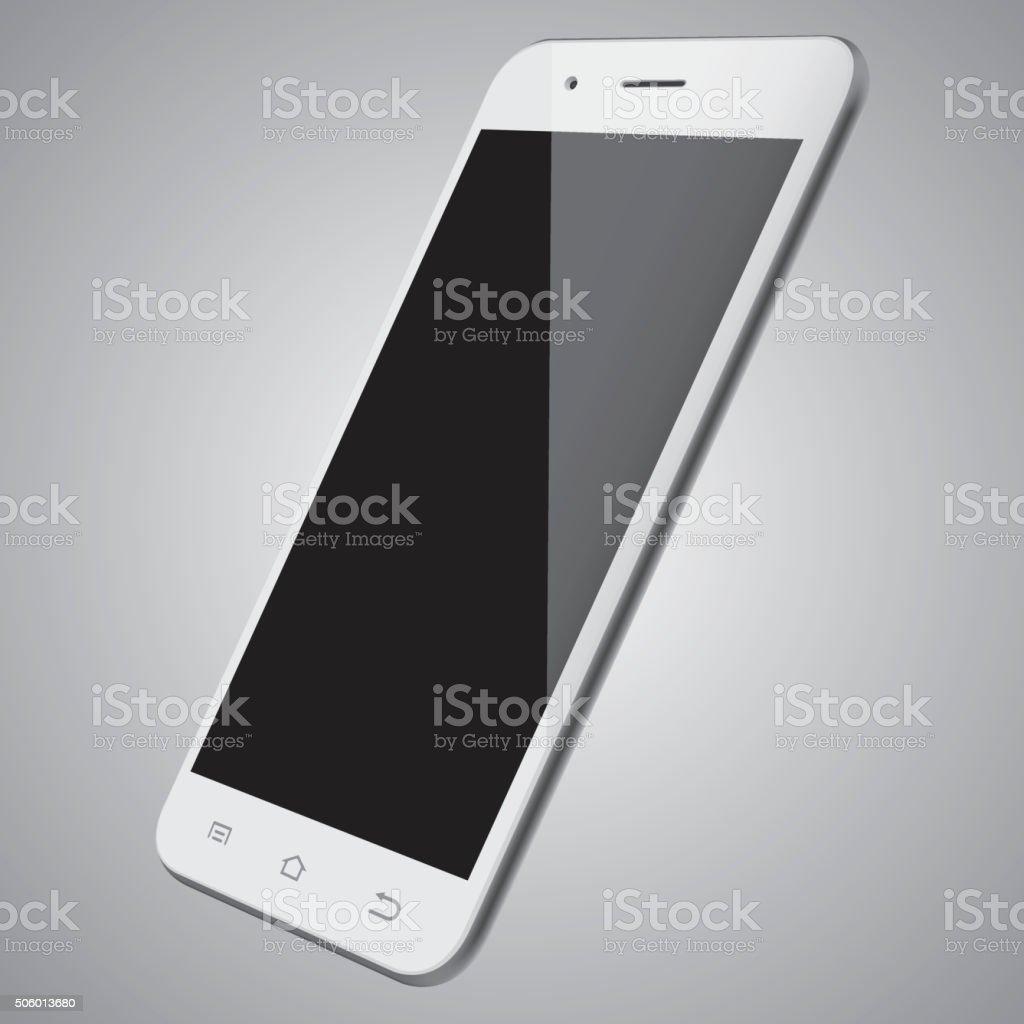 Vector white mobile phone template vector art illustration