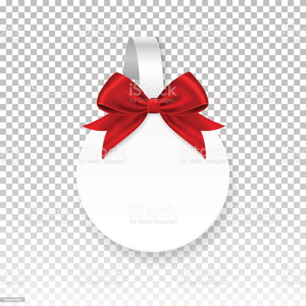 vector white round paper wobbler red bow isolated on vector white round paper wobbler red bow isolated on background template for your