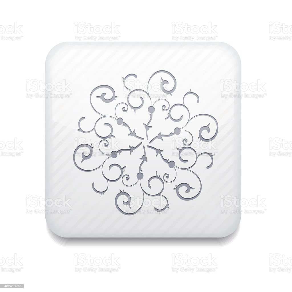 Vector white Snowflake icon. Eps10. Easy to edit royalty-free stock vector art
