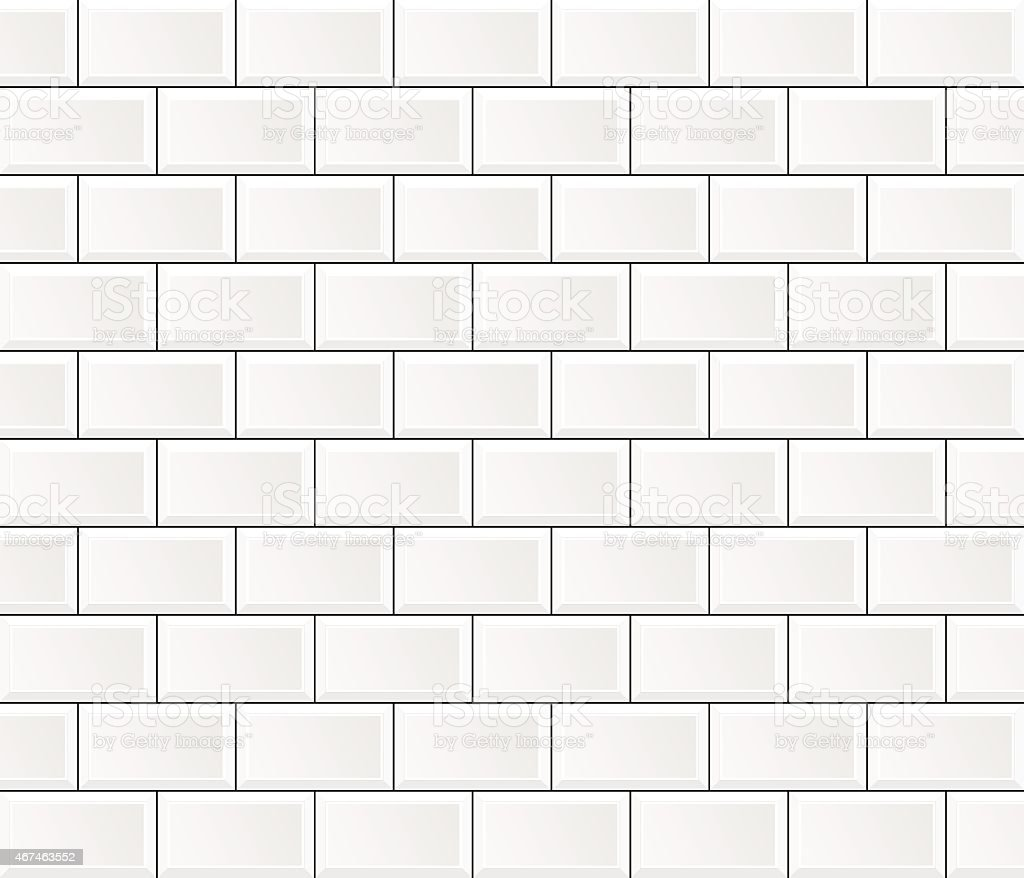 vector white tile wall vector art illustration
