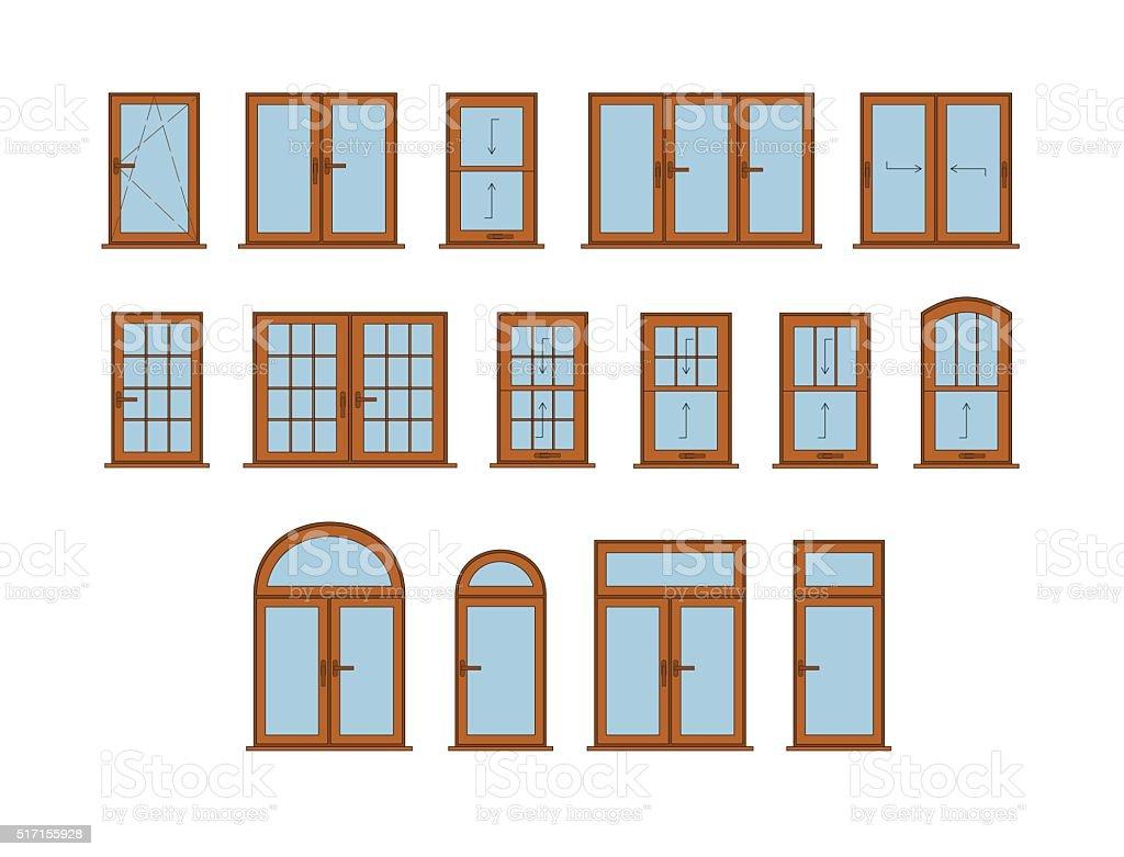 Vector Windows Set vector art illustration