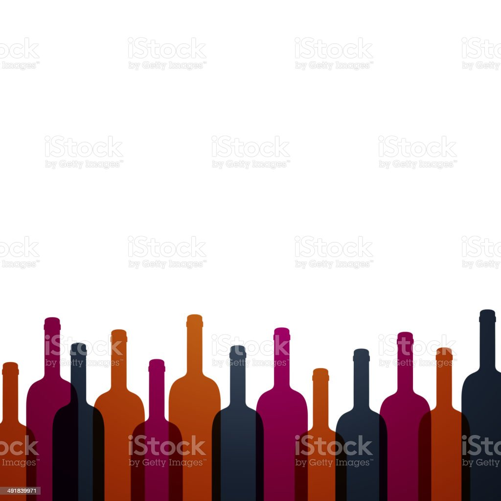 Vector Wine Background vector art illustration