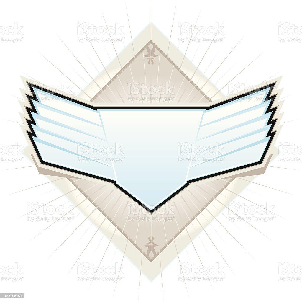 Vector Winged Shield royalty-free stock vector art