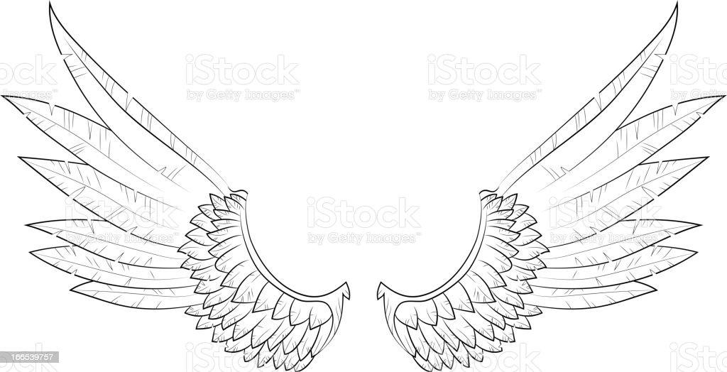 vector wings royalty-free stock vector art