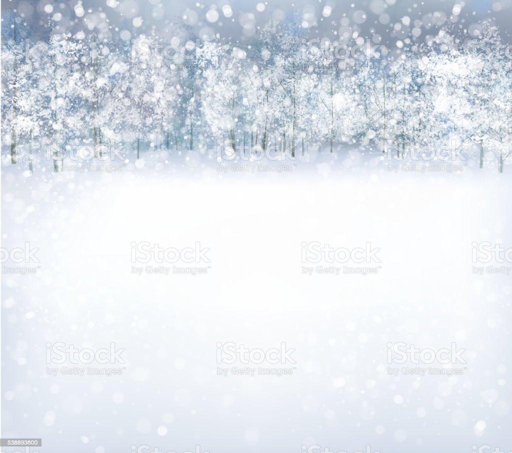 Vector  winter background. vector art illustration