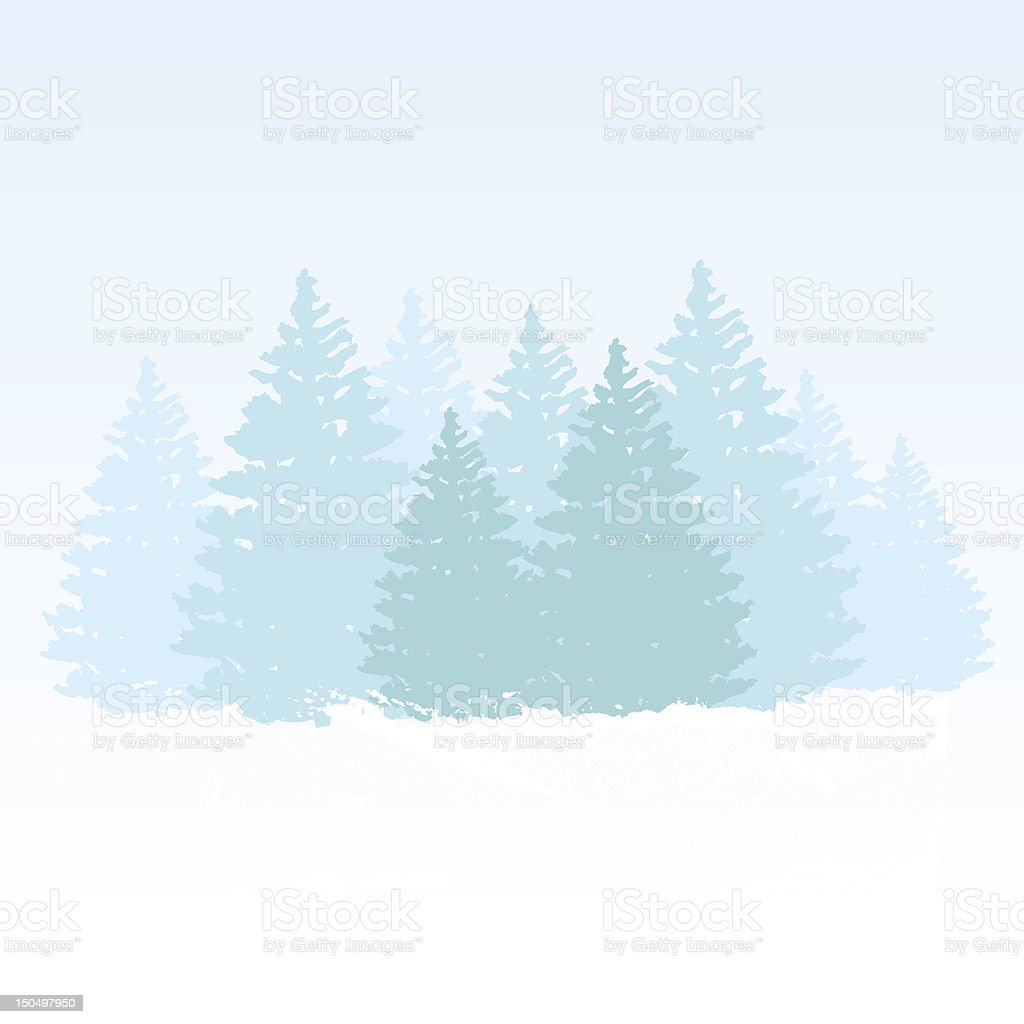 vector winter background with space for text royalty-free stock vector art