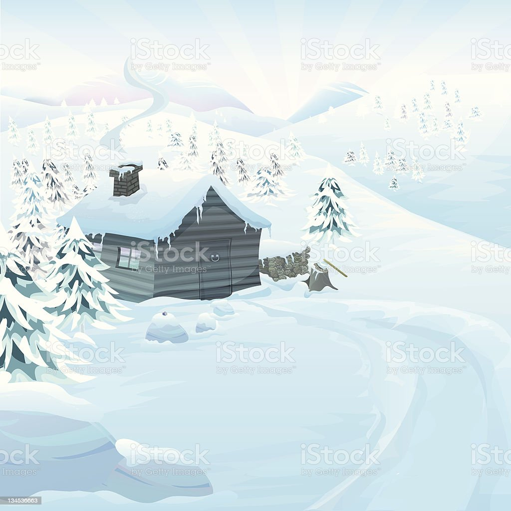 Vector winter landscape royalty-free stock vector art