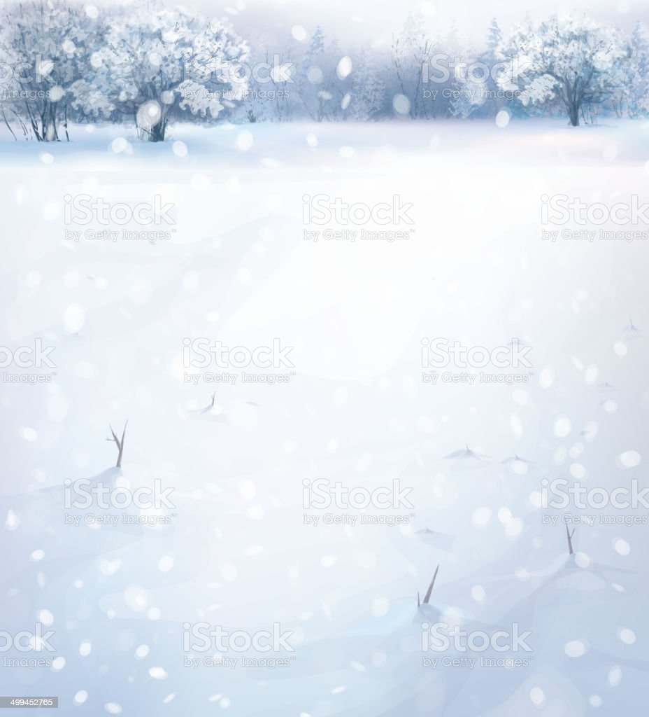 Vector winter landscape. royalty-free stock vector art