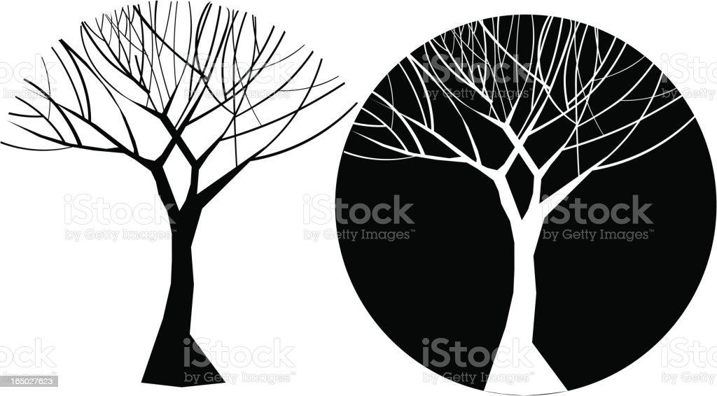 Vector Winter Tree royalty-free stock vector art