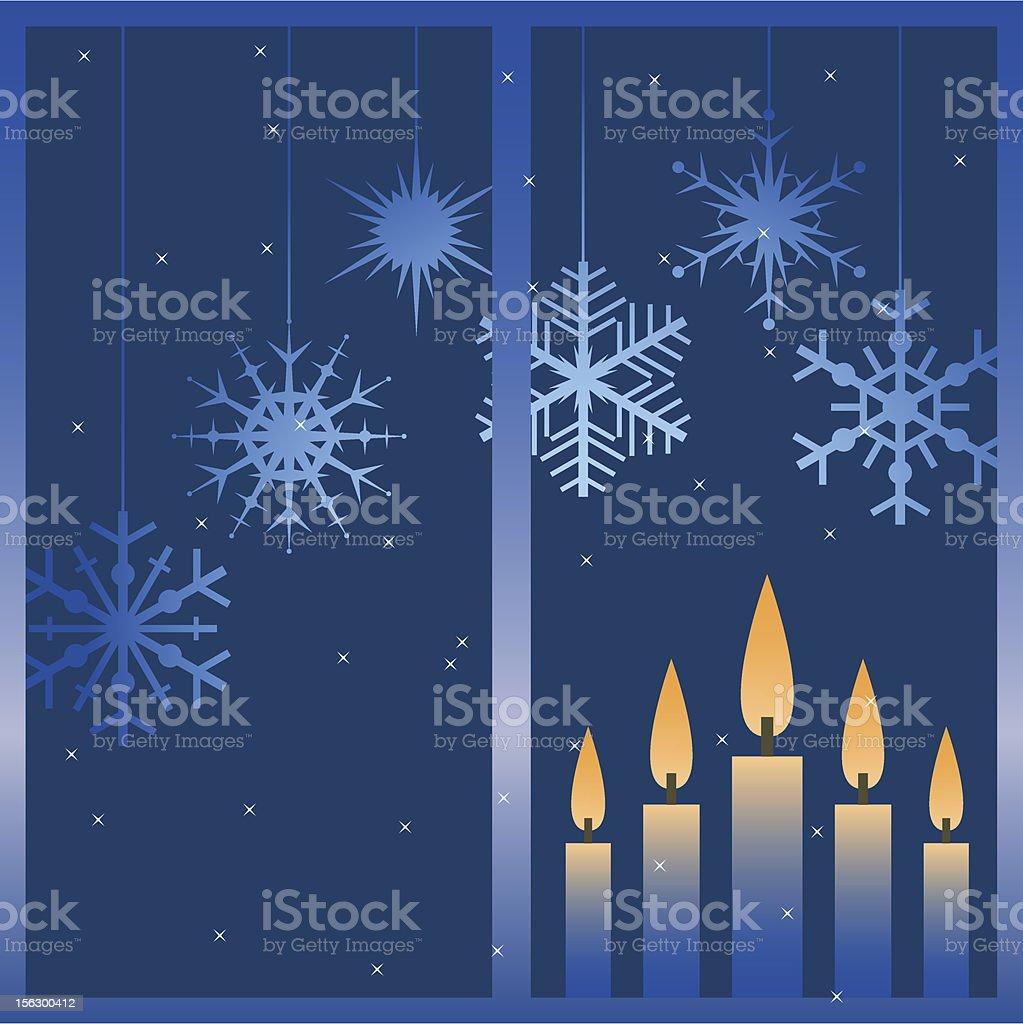 Vector winter window. royalty-free stock vector art