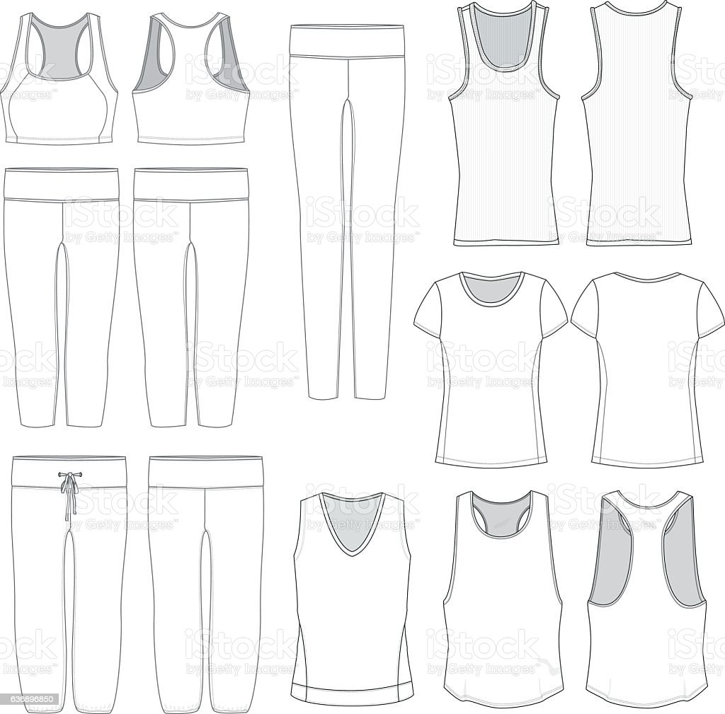 Vector Women's wear templates vector art illustration