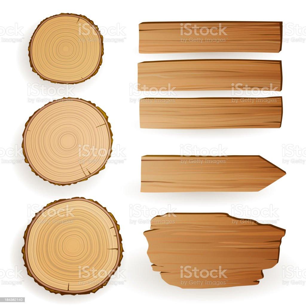 Vector Wood Elements vector art illustration