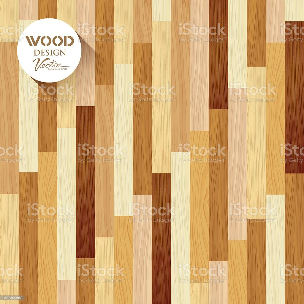 Vector Wood floor striped vertical concept design vector art illustration