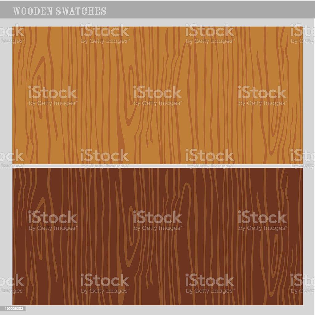 Vector wood texture swatches vector art illustration