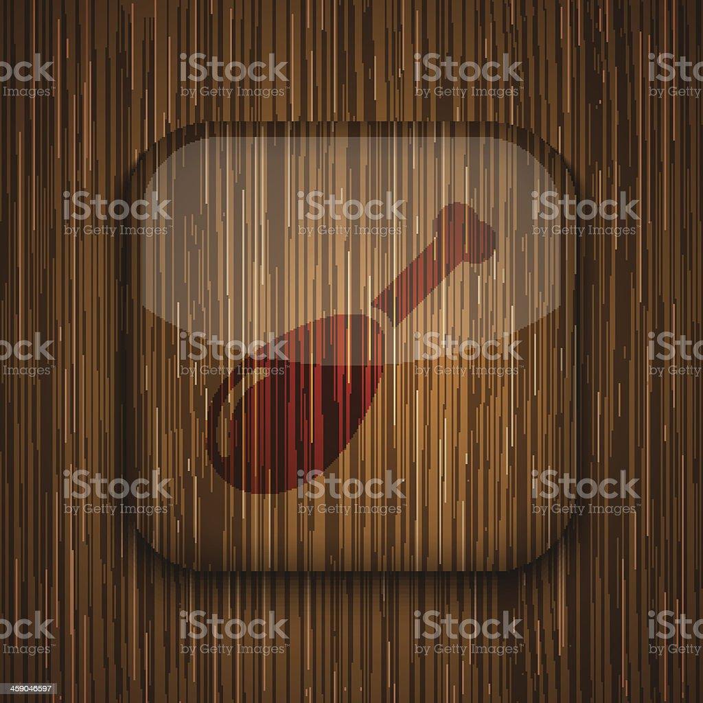 Vector wooden app icon. Eps10 royalty-free stock vector art