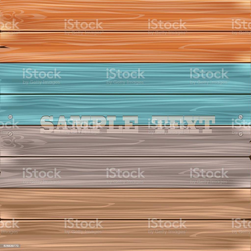 Vector wooden background. vector art illustration