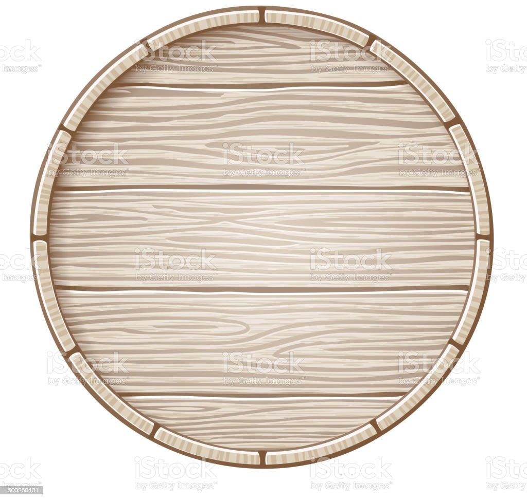 Vector wooden barrel vector art illustration