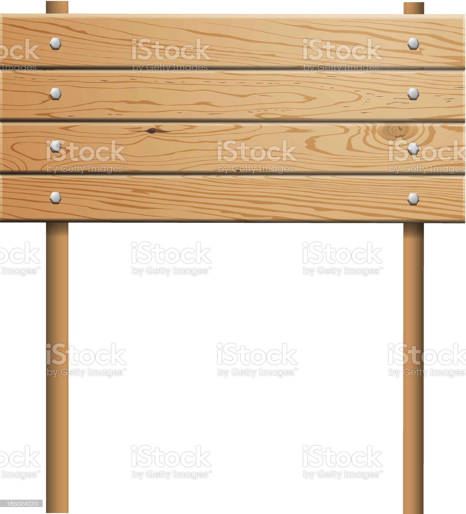 Vector wooden billboard royalty-free stock vector art