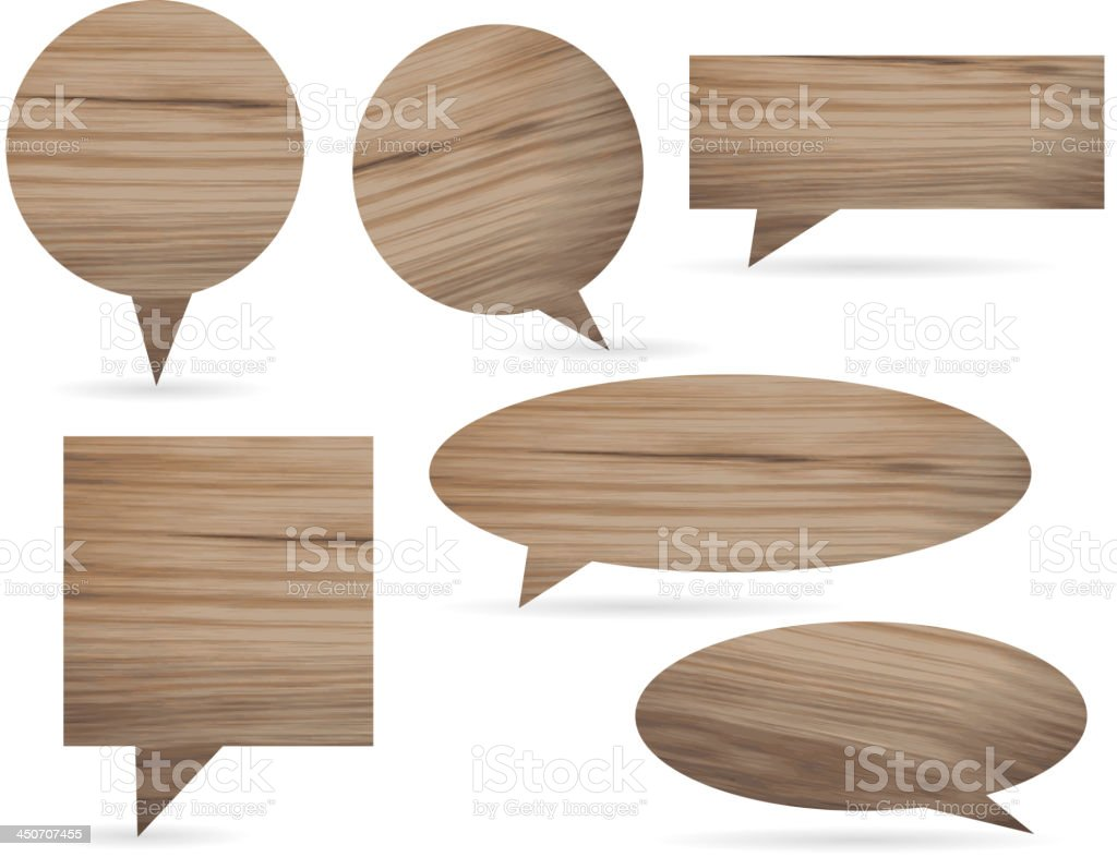 Vector wooden speech bubble royalty-free stock vector art