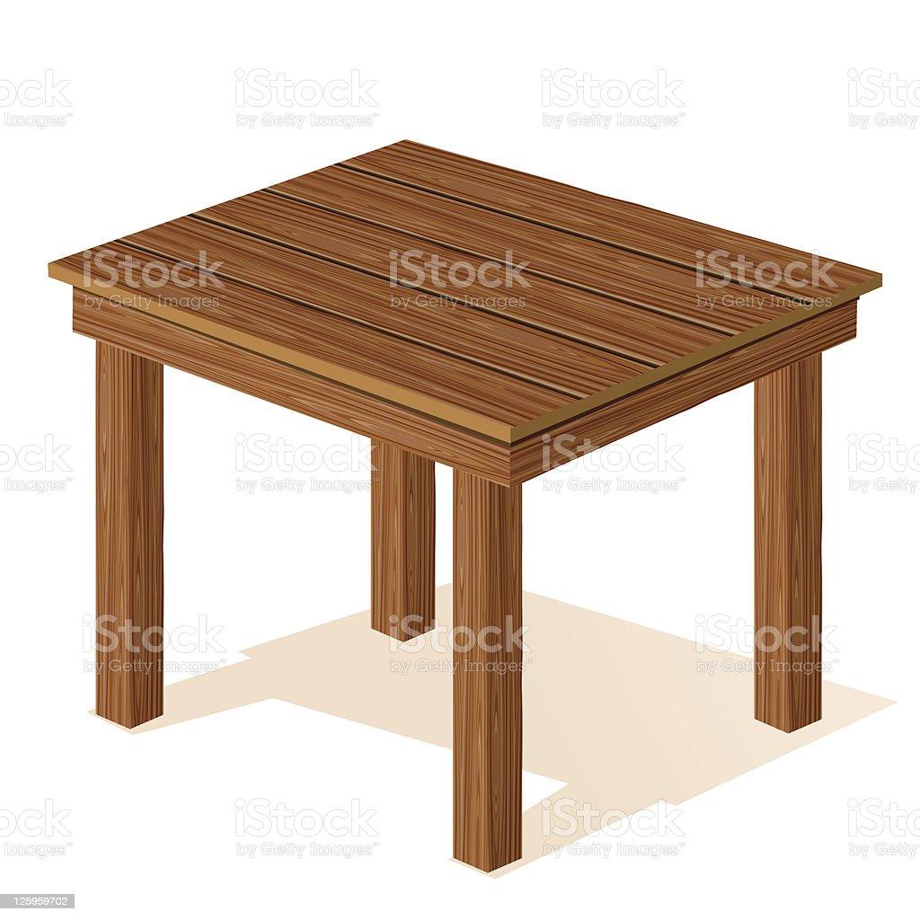 벡터 나무 탁자 일러스트 125959702  iStock